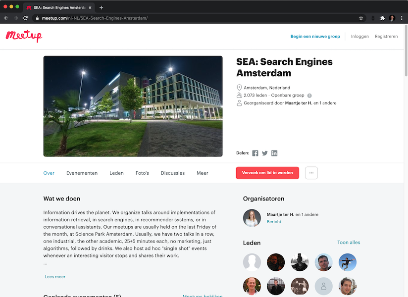Search Engines Amsterdam: April 30