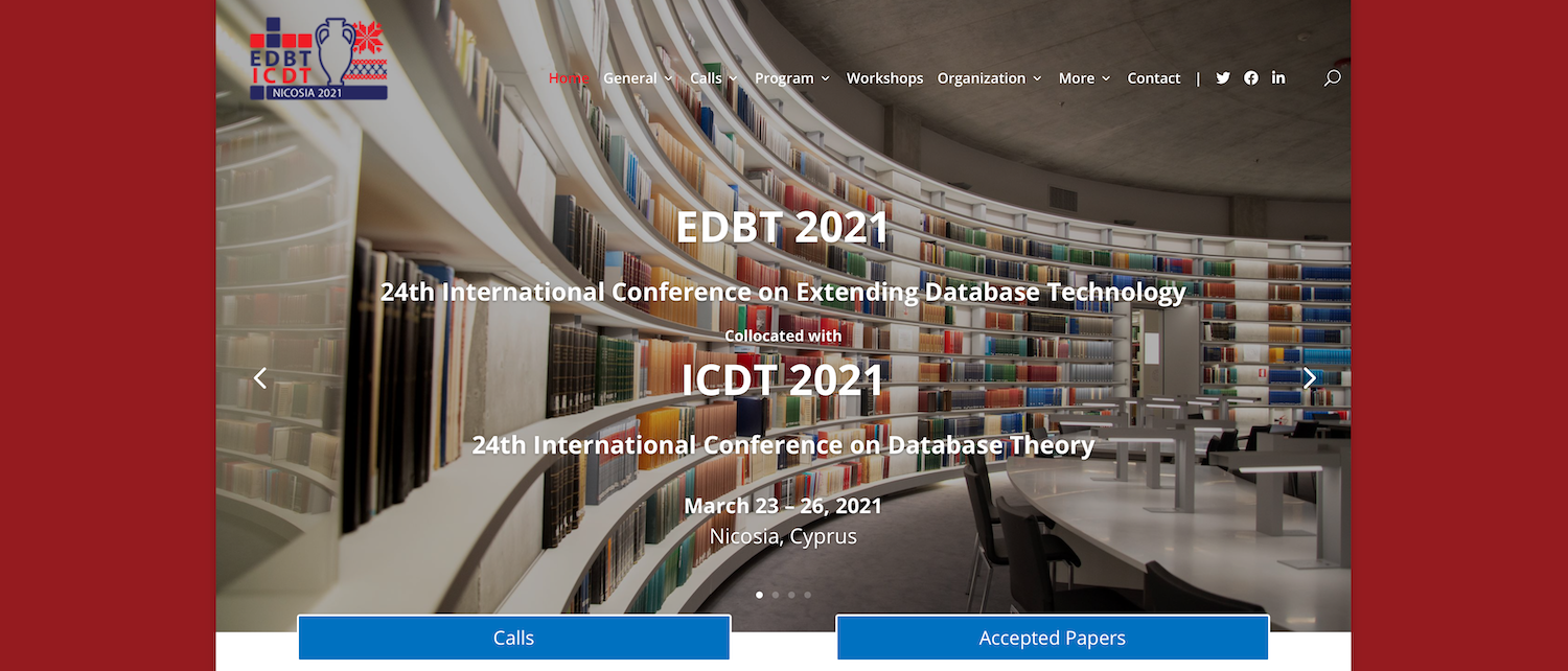 Two Papers Accepted at EDBT 2021