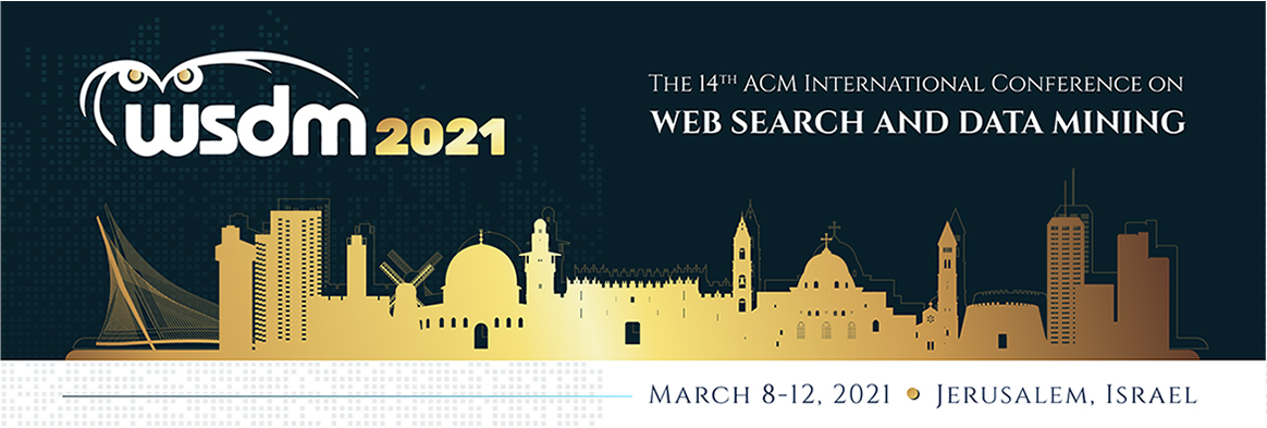 Three Papers Accepted at WSDM 2021