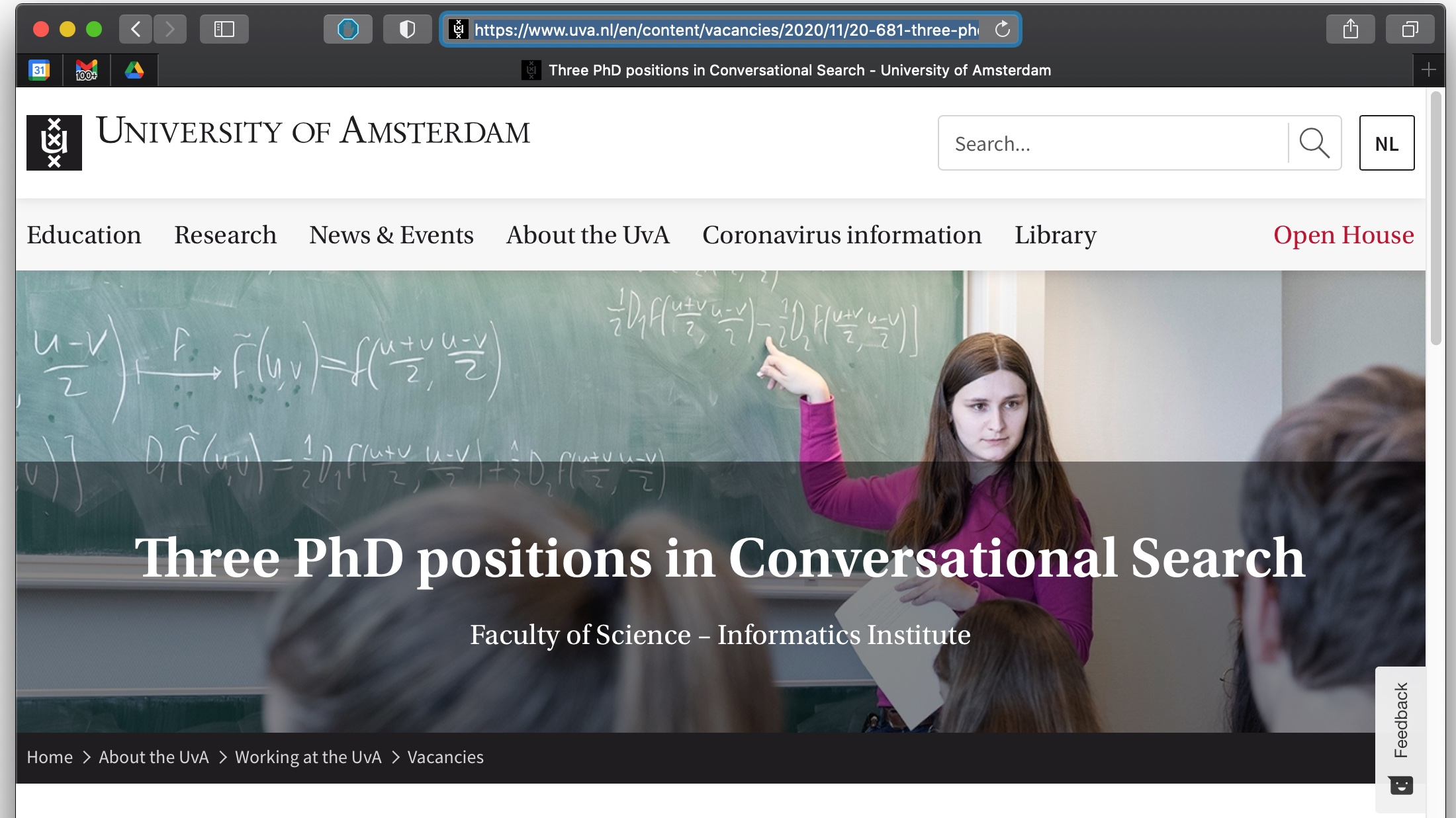 Three PhD positions in Conversational Search