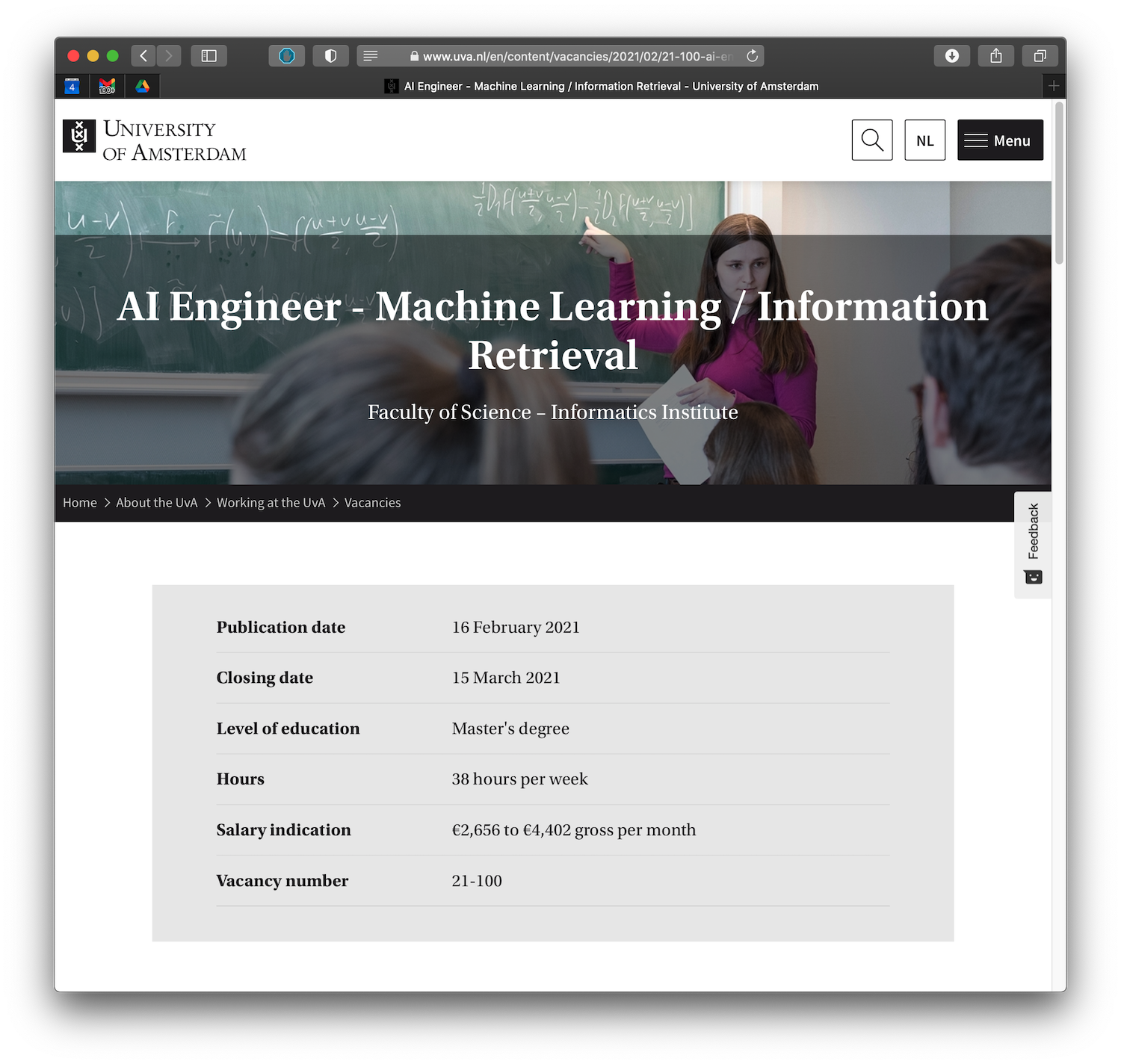 Join the IRLab as an AI Engineer