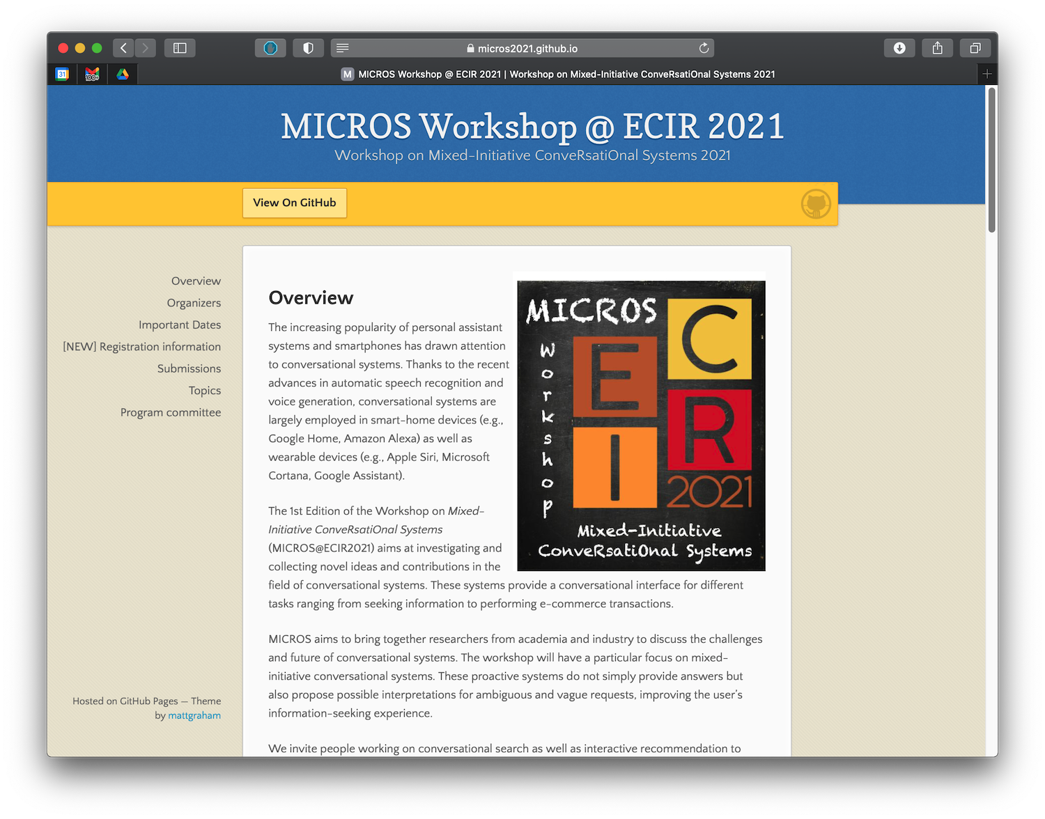 Two Papers Accepted at MICROS Workshop at ECIR 2021