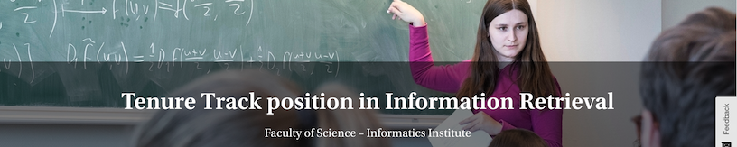 Join the IRLab as an Assistant Professor