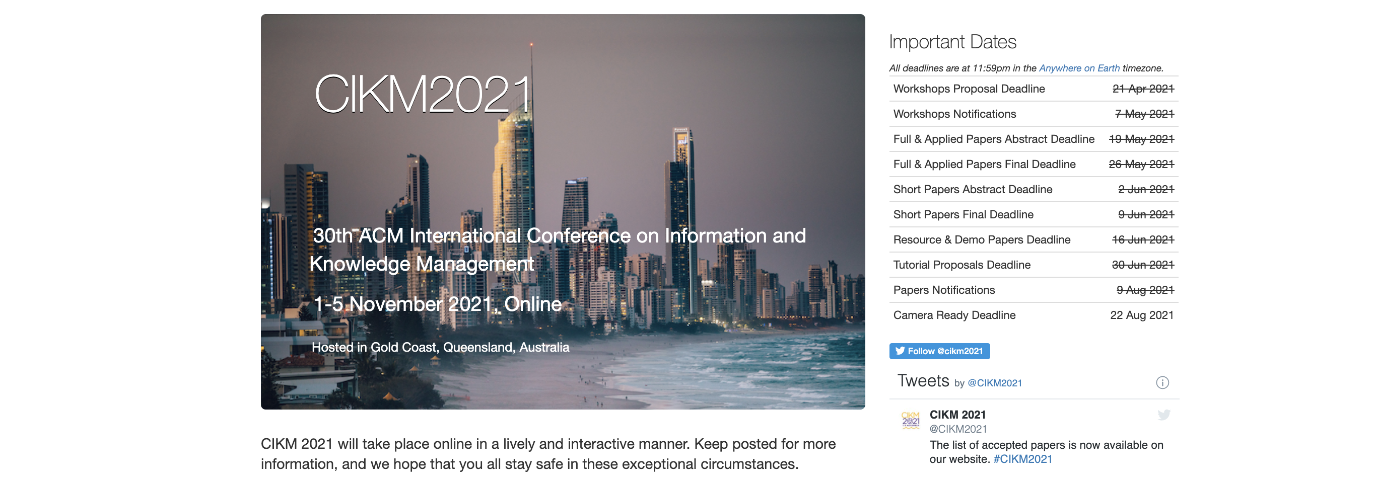 Five Papers Accepted at CIKM 2021